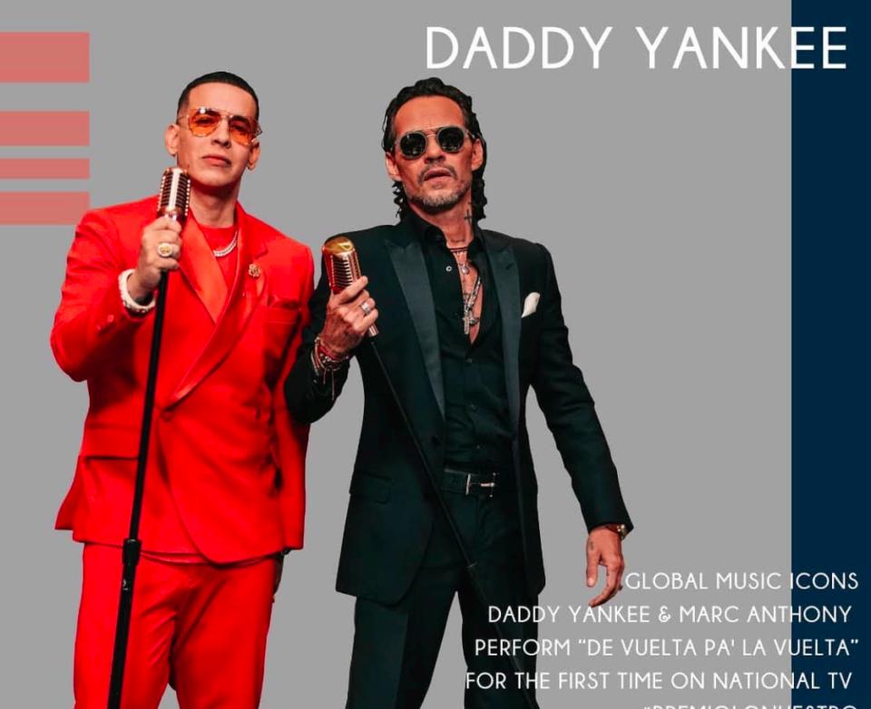 Daddy Yankee Marc Anthony premios lo nuestro